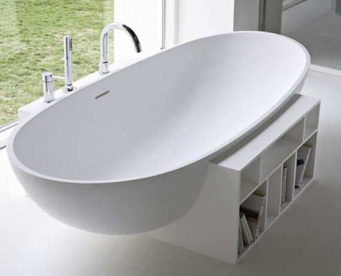 Corian, iron and glass - fiber