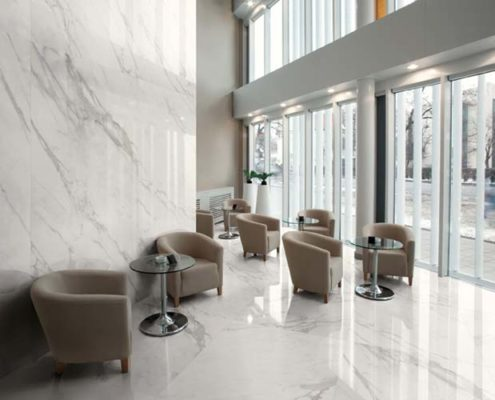 Luxury marbles and porcelain stoneware surfaces